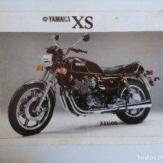 Motos: CARTEL PUBLICIDAD YAMAHA XS650/XS1100.A DOBLE CARA.. Lote 152222914