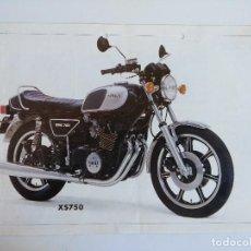 Motos: CARTEL PUBLICIDAD YAMAHA X750.. Lote 152223194