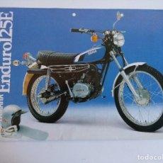 Motos: CARTEL PUBLICIDAD YAMAHA ENDURO 125 E.. Lote 152223294