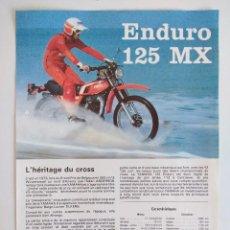 Motos: CARTEL PUBLICIDAD YAMAHA ENDURO 125 MX.. Lote 152223378