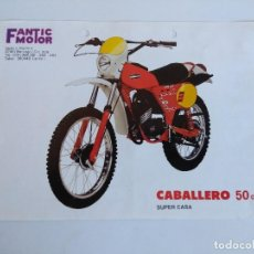 Motos: CARTEL PUBLICIDAD MOTOCICLETA CABALLERO 50CC. SUPER CASA.. Lote 152223558