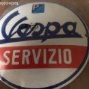 Motos: PLACA ESMALTADA VESPA. Lote 162017818