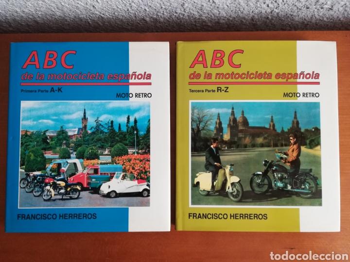 ABC DE LA MOTOCICLETA ESPAÑOLA PARTES 1 Y 3 FRANCISCO HERREROS - ENCICLOPEDIA VOL. 4 Y 6 - VESPA (Coches y Motocicletas - Motocicletas Clásicas (a partir 1.940))