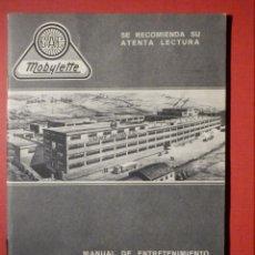 Motos: GAC - MOBYLETTE MANUAL CICLOMOTOR ENGRASE Y FUNCIONAMIENTO - GARATE, ANITUA Y CIA. S.A. . Lote 189973475