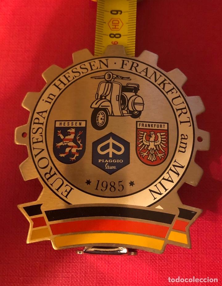 Motos: Publicidad; placa de Vespa Alemania. Frankfurt. - Foto 4 - 193971290