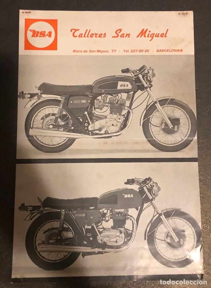 PUBLICIDAD DE MOTOS BSA, POR PARTE DEL DISTRIBUIDOR OFICIAL, TALLERES SAN MIGUEL. (Coches y Motocicletas - Motocicletas Clásicas (a partir 1.940))