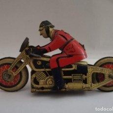 Motos: ANTIGUA MOTO MOTOCICLETA MILITAR DE HOJALATA. SFA PARIS FRANCIA AÑOS 40. MODELO AZUL. Lote 204338547
