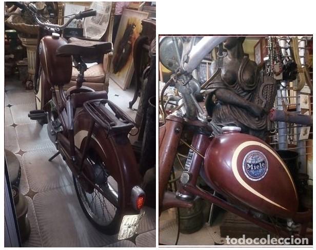 Motos: MOTOCICLETA MIELE.Años 50. única en buen estado. Completamente original.SIN RESTAURAR Pieza de museo - Foto 2 - 210037972
