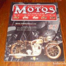 Motos: GRANDES MOTOS CLÁSICAS DE COLECCIÓN - FASCICULO Nº 27 ROYAL ENFIELD BULLET (1938). Lote 215195278