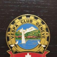 Motos: CHAPA VESPA CLUB GENEVE AÑOS 50. Lote 236441665
