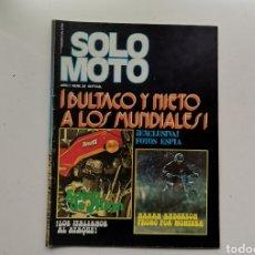 Motos: SOLO MOTO Nº20 / 5 DE DICIEMBRE DE 1975 / BULTACO Y NIETO A LOS MUNDIALES. Lote 253826390