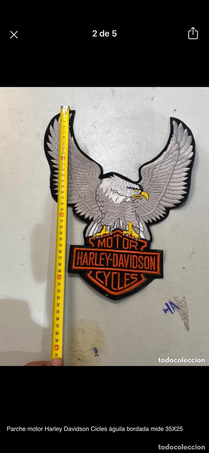 Motos: Parche motor Harley Davidson Cicles águila bordada mide 35X25 - Foto 2 - 254708155