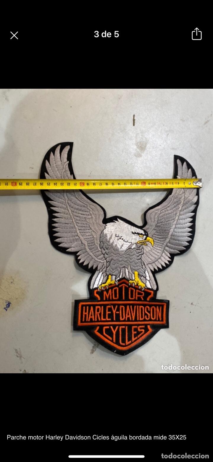 Motos: Parche motor Harley Davidson Cicles águila bordada mide 35X25 - Foto 3 - 254708155
