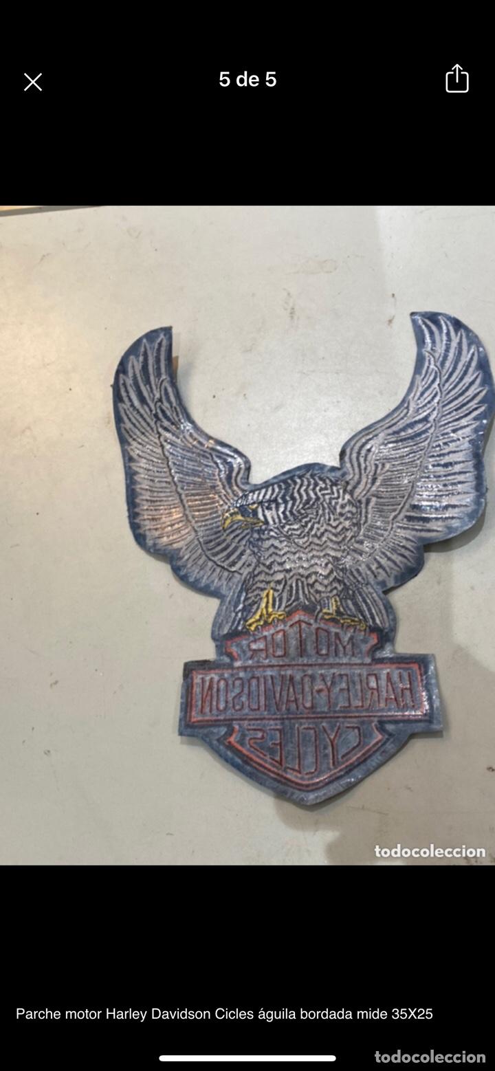 Motos: Parche motor Harley Davidson Cicles águila bordada mide 35X25 - Foto 4 - 254708155
