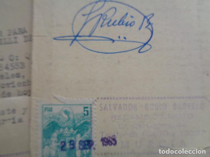 Motos: DOCUMENTACIÓN, FACTURA Y GARANTÍA DE MOTO RIEJU 49 CC. AÑO 1965 - Foto 2 - 267488694