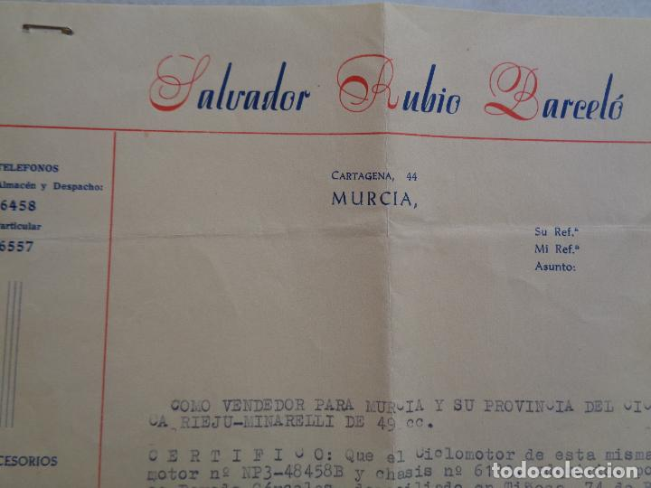 Motos: DOCUMENTACIÓN, FACTURA Y GARANTÍA DE MOTO RIEJU 49 CC. AÑO 1965 - Foto 4 - 267488694