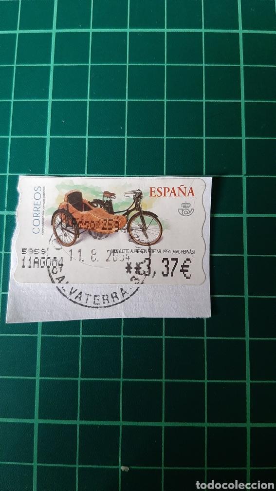 SALVATERRA MATASELLO ESPAÑA 2004 MOBYLETE SIDECAR 1954 HERVAS ATM ESPAÑA CORREOS (Coches y Motocicletas - Motocicletas Clásicas (a partir 1.940))