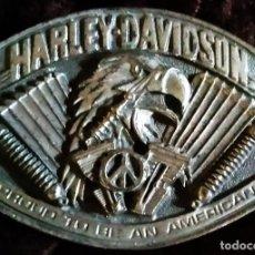 Motos: MOTOS (OBJETOS RELACIONADOS) / * HEBILLA METÁLICA DE CINTURÓN * DE HARLEY DAVIDSON. RARA.. Lote 292552313