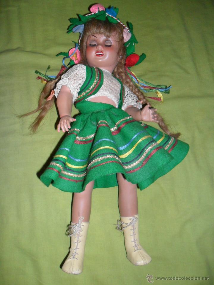 Muñeca Cayetana: Muñeca Cayetana de 3ª generación con vestido típico ruso (Industrias Diana) años 50 - Foto 2 - 44992205