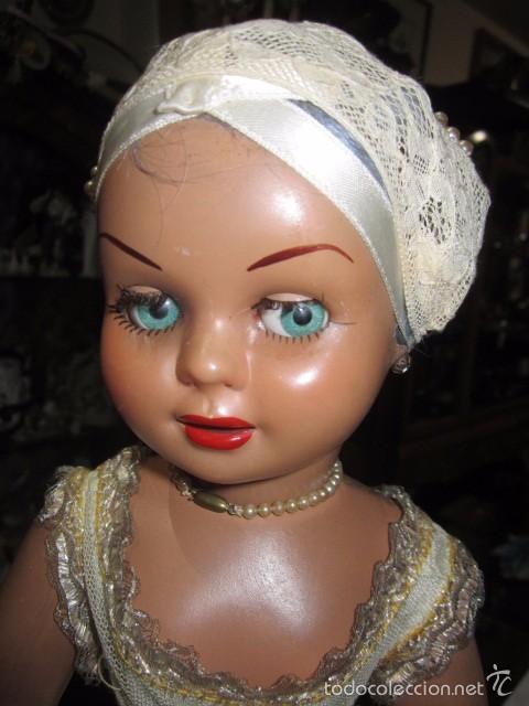 Muñeca Cayetana: Muñeca Cayetana de Diana, con bonito vestido y zapatos. Marca en la nuca. 47 cms. altura. - Foto 2 - 55901046