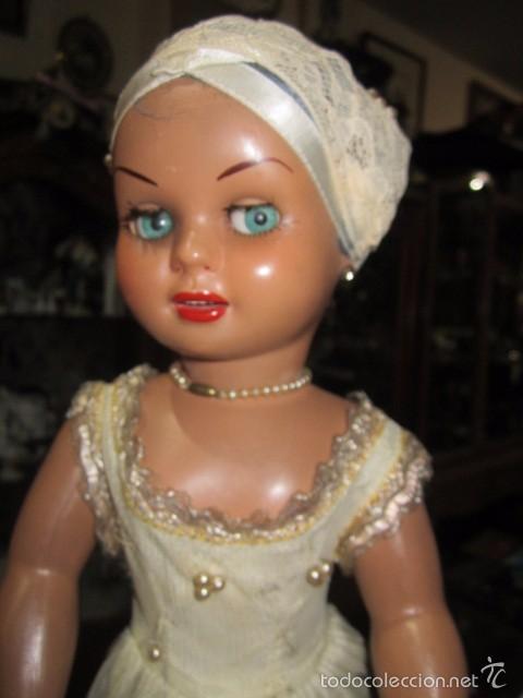 Muñeca Cayetana: Muñeca Cayetana de Diana, con bonito vestido y zapatos. Marca en la nuca. 47 cms. altura. - Foto 3 - 55901046