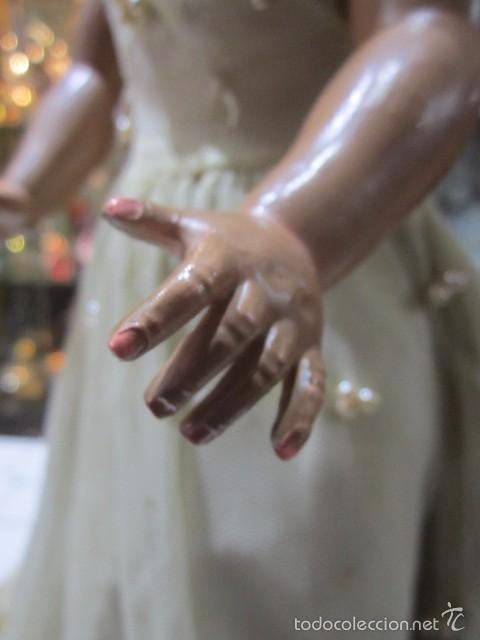 Muñeca Cayetana: Muñeca Cayetana de Diana, con bonito vestido y zapatos. Marca en la nuca. 47 cms. altura. - Foto 4 - 55901046