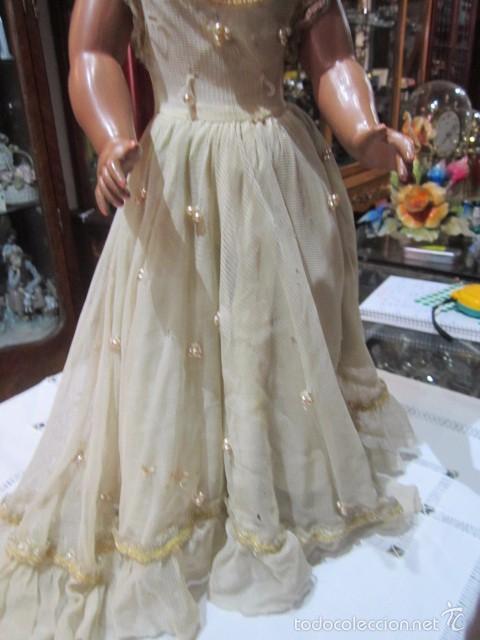 Muñeca Cayetana: Muñeca Cayetana de Diana, con bonito vestido y zapatos. Marca en la nuca. 47 cms. altura. - Foto 5 - 55901046