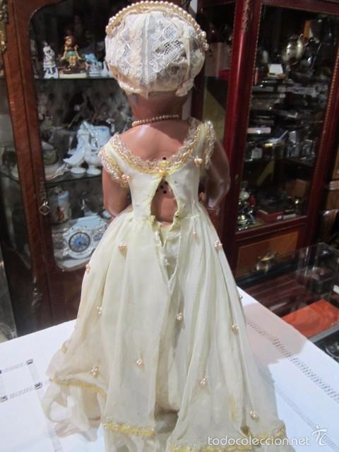 Muñeca Cayetana: Muñeca Cayetana de Diana, con bonito vestido y zapatos. Marca en la nuca. 47 cms. altura. - Foto 6 - 55901046