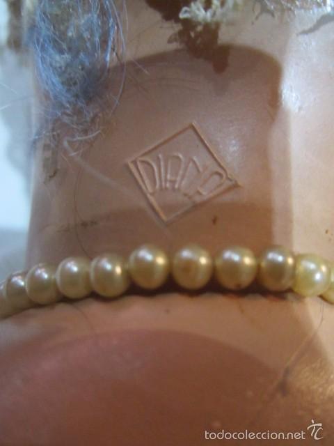 Muñeca Cayetana: Muñeca Cayetana de Diana, con bonito vestido y zapatos. Marca en la nuca. 47 cms. altura. - Foto 14 - 55901046