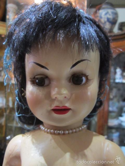 Muñeca Cayetana: Muñeca Cayetana de Diana. Marca en la nuca. Sin vestido. 47 cms. de altura. - Foto 2 - 55901123