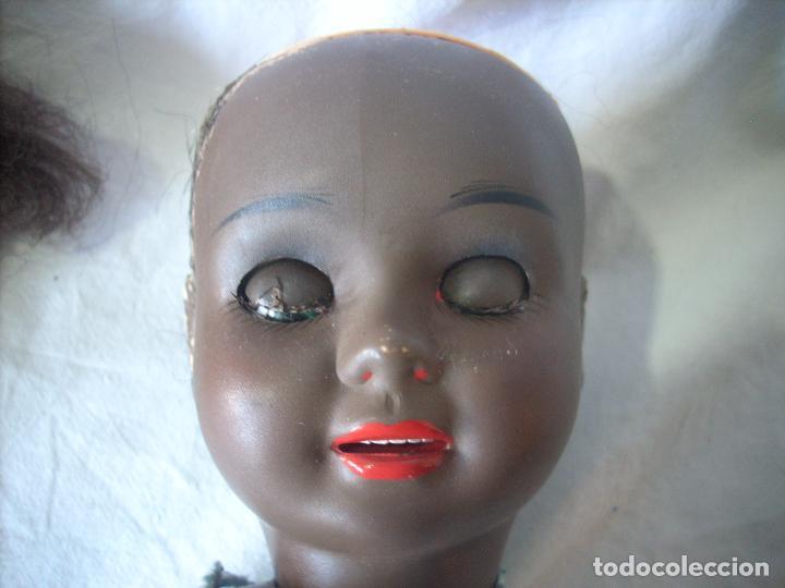 Muñeca Cayetana: Muñeca Cayetana negra, poliestireno, celuloide, marcada Diana - Foto 2 - 70459357