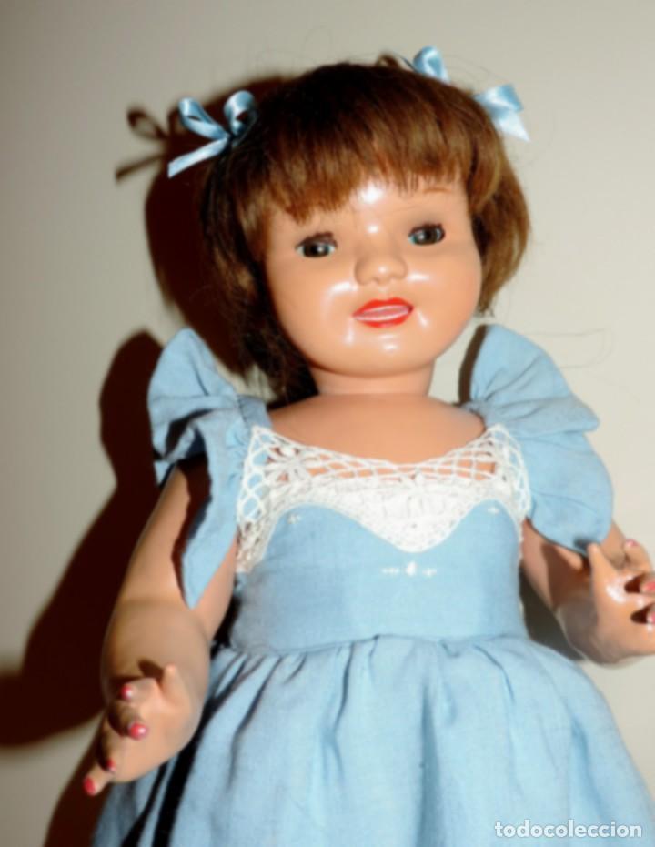 Muñeca Cayetana: Encantadora muñeca Cayetana, cabeza en celuloide, cuerpo de cartón piedra. Cabello natural en buen - Foto 2 - 70531333