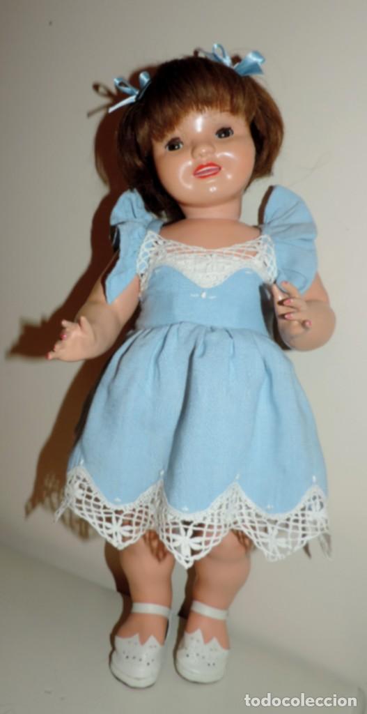 Muñeca Cayetana: Encantadora muñeca Cayetana, cabeza en celuloide, cuerpo de cartón piedra. Cabello natural en buen - Foto 3 - 70531333