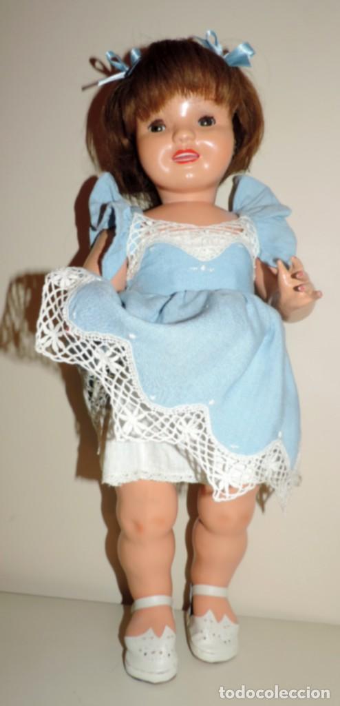 Muñeca Cayetana: Encantadora muñeca Cayetana, cabeza en celuloide, cuerpo de cartón piedra. Cabello natural en buen - Foto 5 - 70531333