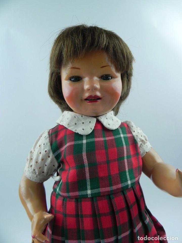 Muñeca Cayetana: Encantadora muñeca Cayetana de 1946. Cabello natural en buen estado. ojo durmiente boca abierta que - Foto 2 - 73790679