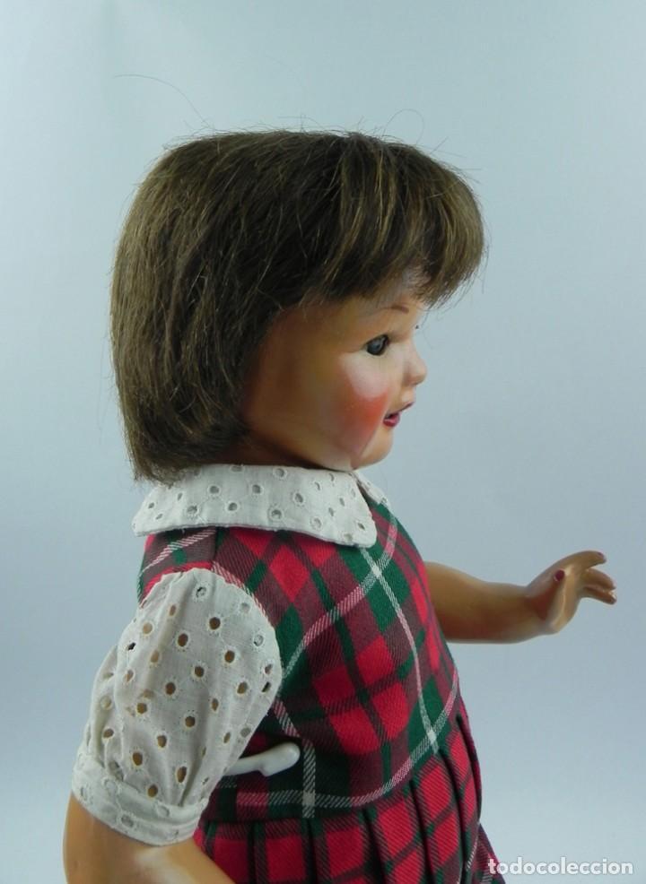 Muñeca Cayetana: Encantadora muñeca Cayetana de 1946. Cabello natural en buen estado. ojo durmiente boca abierta que - Foto 4 - 73790679