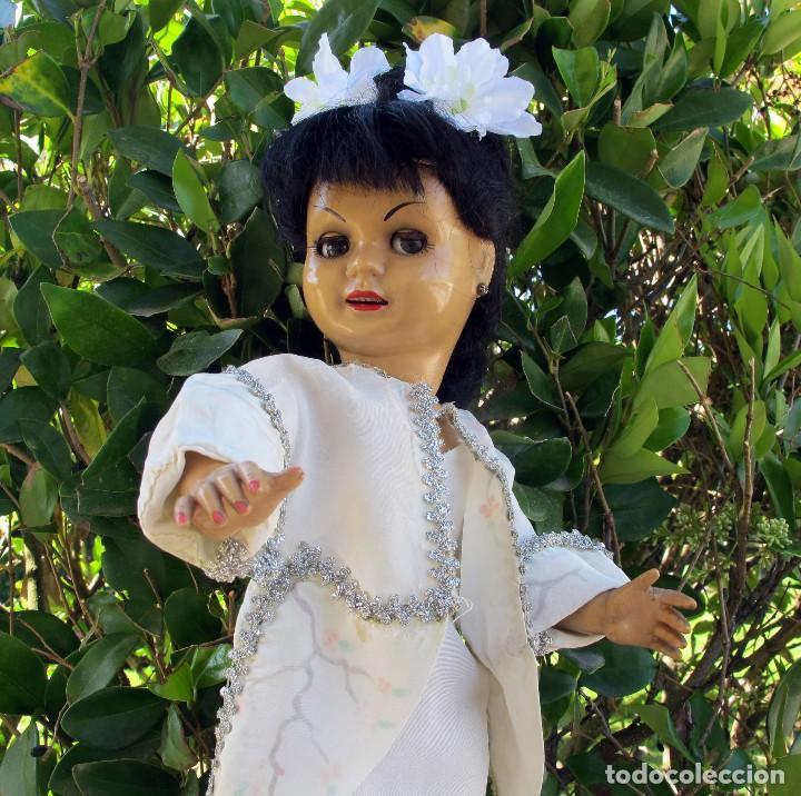 MUÑECA CAYETANA MODELO TODA DE CELULOIDE,AÑOS 50, MARCADA DIANA,OJOS FLIRTY - DOLL POUPÉE (Juguetes - Muñeca Española Clásica - Cayetana)