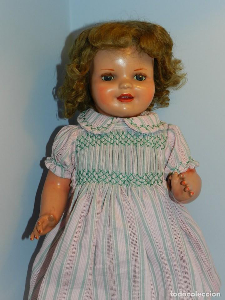 Muñeca Cayetana: Monísima muñeca Cayetana de primera época 1946- Realizada en cartón piedra, cabello de mohair en mu - Foto 2 - 122600063