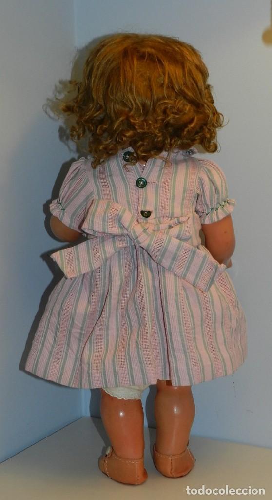 Muñeca Cayetana: Monísima muñeca Cayetana de primera época 1946- Realizada en cartón piedra, cabello de mohair en mu - Foto 4 - 122600063
