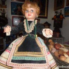 Muñeca Cayetana: CAYETANA VESTIDA TODA DE ORIGEN, EL PELO ESTA PERFECTO Y TODA ELLA TAMBIEN. GUARDADA EN VITRINA.. Lote 140745510