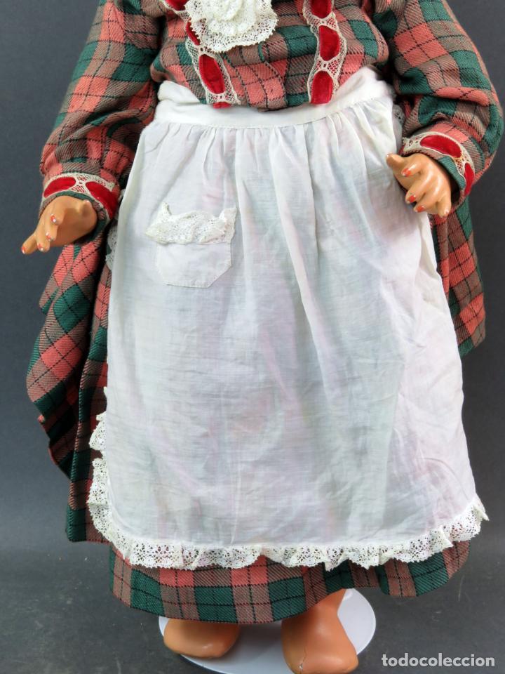 Muñeca Cayetana: Cayetana andadora muñeca cartón piedra ojo durmiente pelo natural años 40 - 50 43 cm - Foto 4 - 142434626