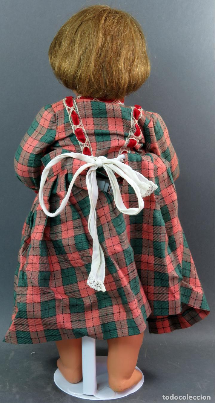 Muñeca Cayetana: Cayetana andadora muñeca cartón piedra ojo durmiente pelo natural años 40 - 50 43 cm - Foto 5 - 142434626