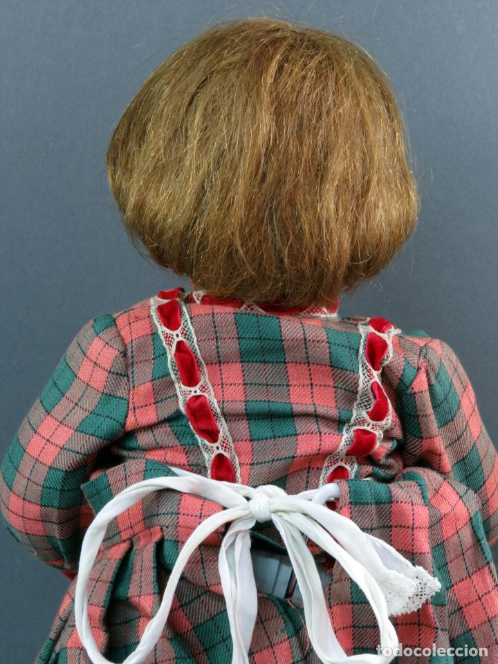 Muñeca Cayetana: Cayetana andadora muñeca cartón piedra ojo durmiente pelo natural años 40 - 50 43 cm - Foto 6 - 142434626