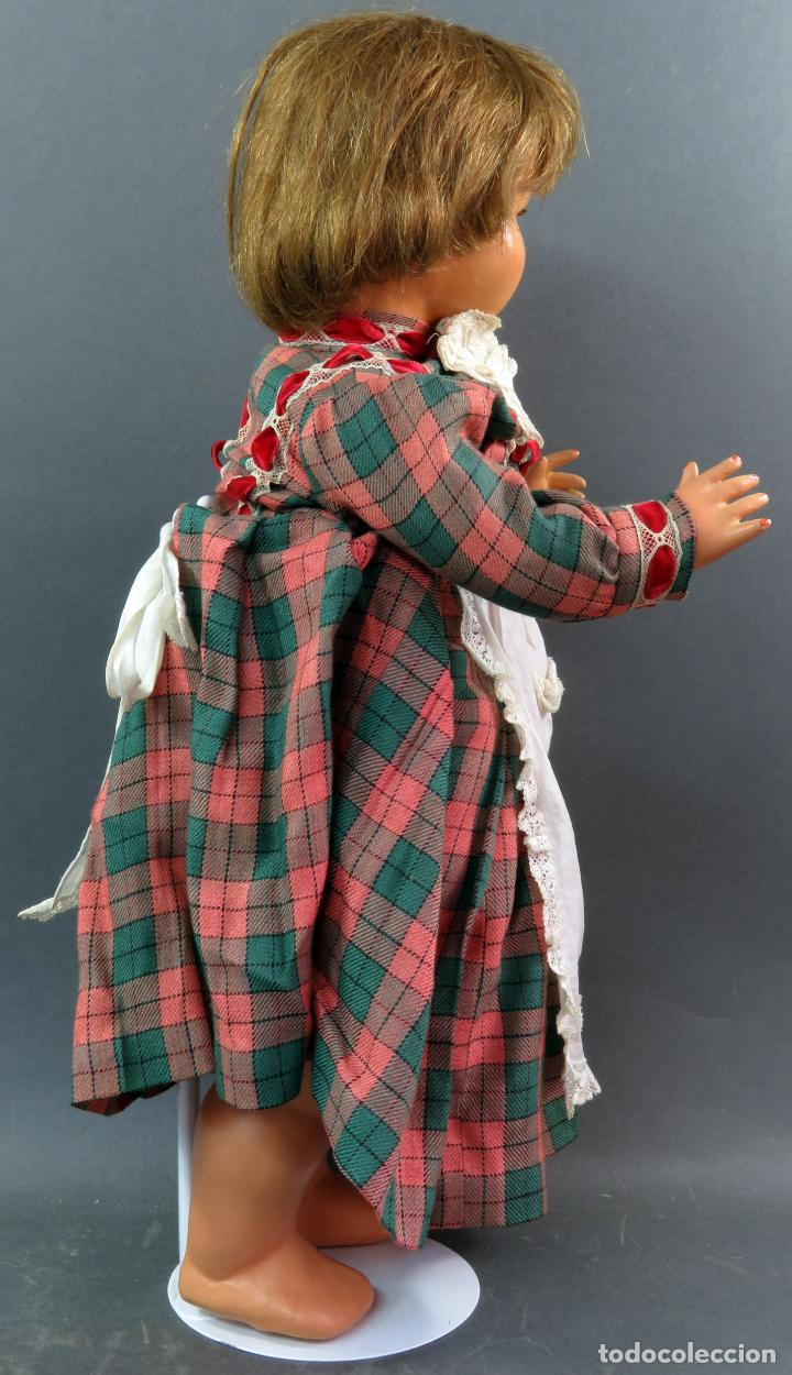 Muñeca Cayetana: Cayetana andadora muñeca cartón piedra ojo durmiente pelo natural años 40 - 50 43 cm - Foto 7 - 142434626