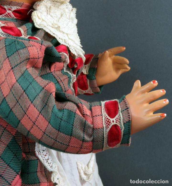 Muñeca Cayetana: Cayetana andadora muñeca cartón piedra ojo durmiente pelo natural años 40 - 50 43 cm - Foto 8 - 142434626