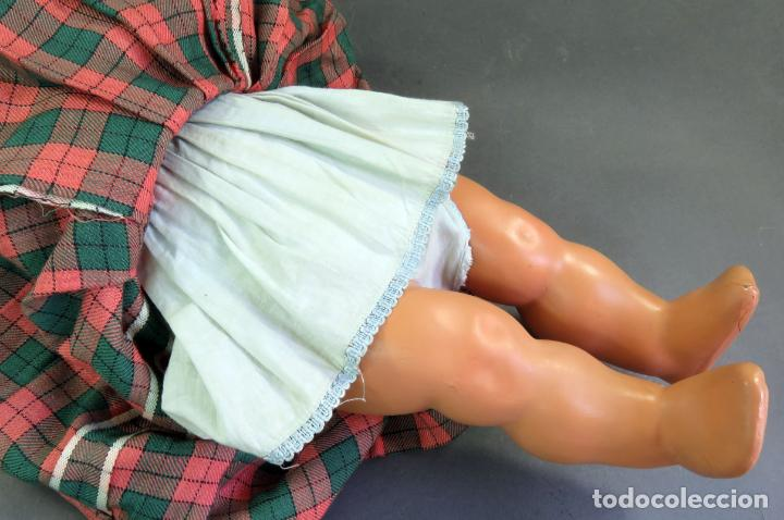 Muñeca Cayetana: Cayetana andadora muñeca cartón piedra ojo durmiente pelo natural años 40 - 50 43 cm - Foto 11 - 142434626