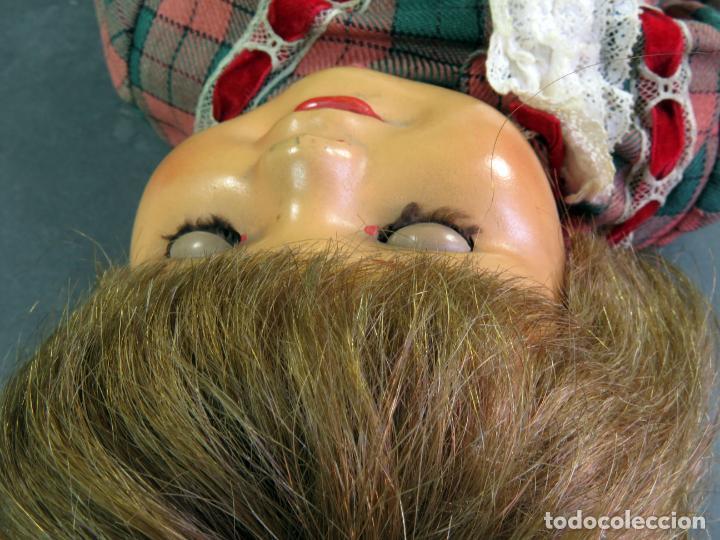 Muñeca Cayetana: Cayetana andadora muñeca cartón piedra ojo durmiente pelo natural años 40 - 50 43 cm - Foto 16 - 142434626