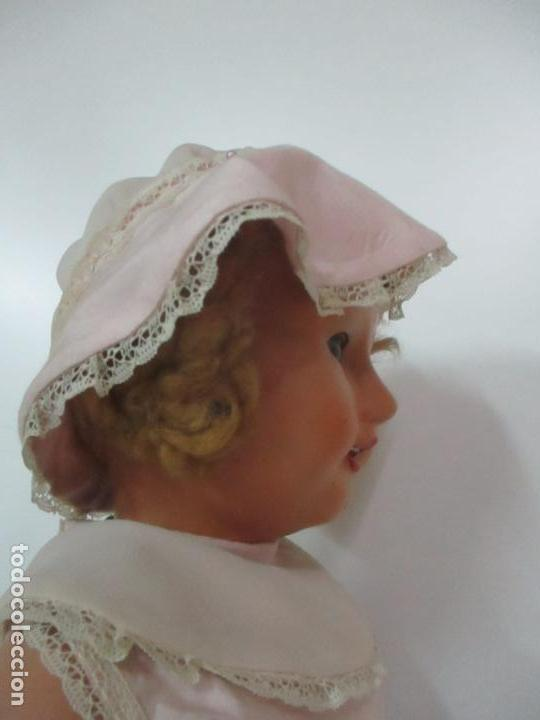 Muñeca Cayetana: Preciosa Muñeca Andadora - Marca Diana - Celuloide - Vestido Original - Cabello Mohair - 67cm Altura - Foto 12 - 147868450