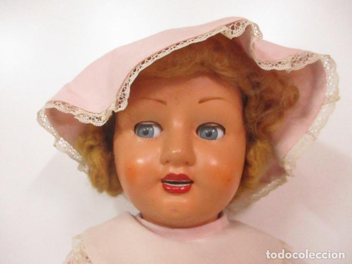 Muñeca Cayetana: Preciosa Muñeca Andadora - Marca Diana - Celuloide - Vestido Original - Cabello Mohair - 67cm Altura - Foto 22 - 147868450