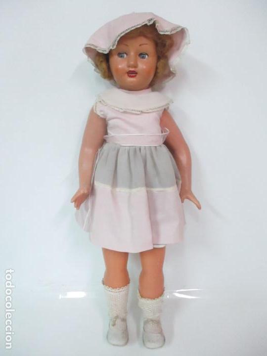 Muñeca Cayetana: Preciosa Muñeca Andadora - Marca Diana - Celuloide - Vestido Original - Cabello Mohair - 67cm Altura - Foto 23 - 147868450